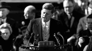 JFK-GivingInauguralAddress