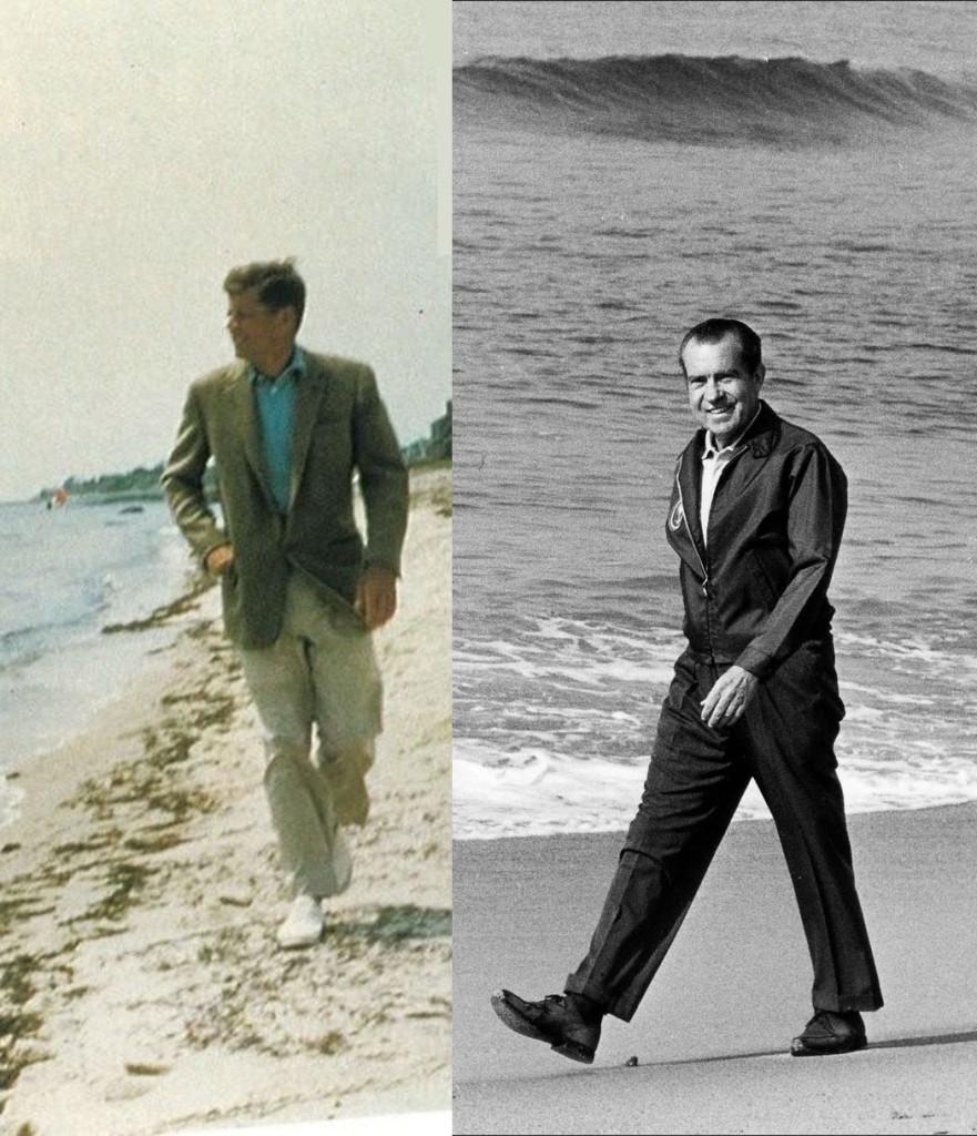 JFK-Nixon-On-Beach
