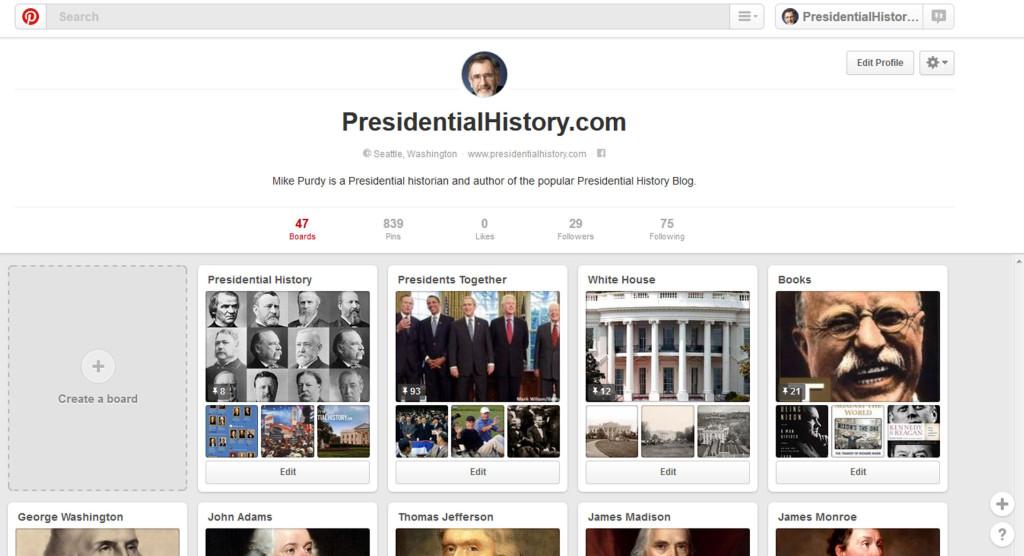 PinterestPresidentialHistory