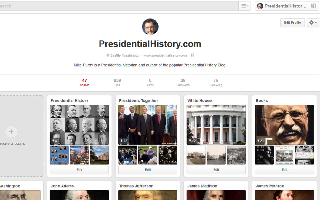 Is Your Favorite President on Pinterest?
